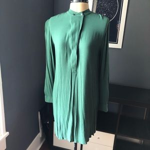 Madewell long sleeve button front shirt dress
